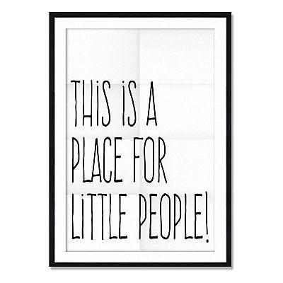 Affiche Encadr E Little People Blanc Et Noir 70 X 1 6 X 50 Cm Playroom Pinterest Les Gens
