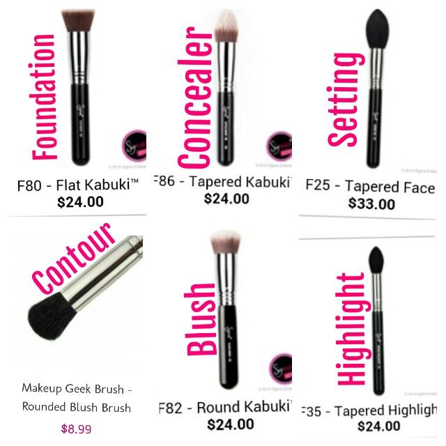 Makeup Brushes Recommended by Jaclyn Hill! These are great brushes, and owning each of them, I can attest to the fact that they are absolutely perfect.