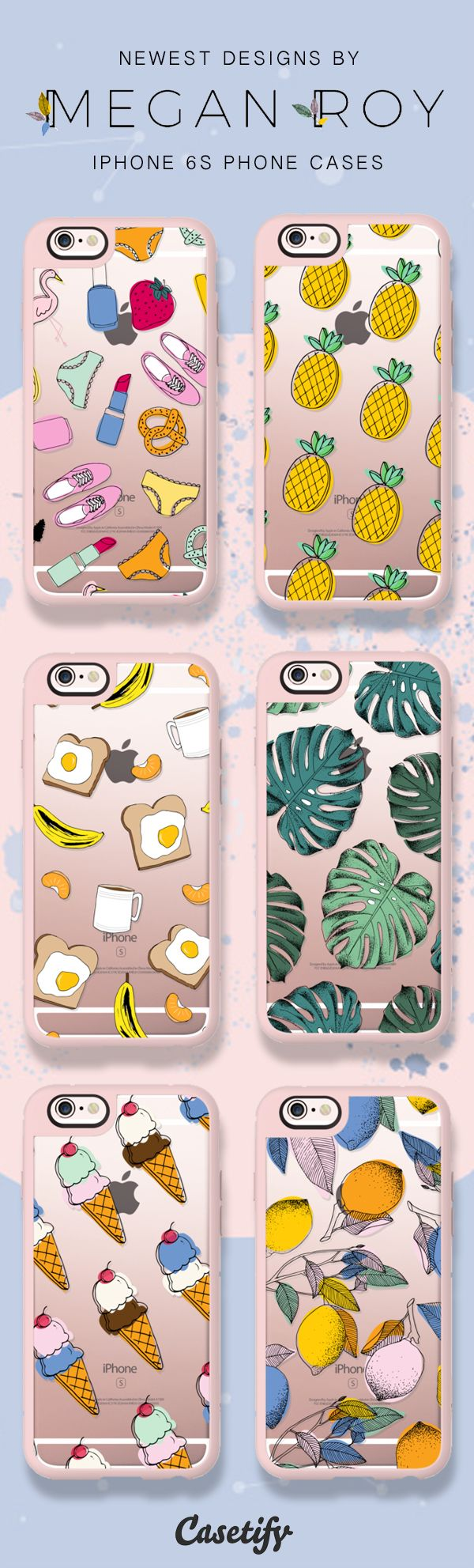 Shop these newest iPhone 6S designs by Megan Roy here >>> https://www.casetify.com/MeganRoy1/collection? (also available for iPhone 7 soon!)