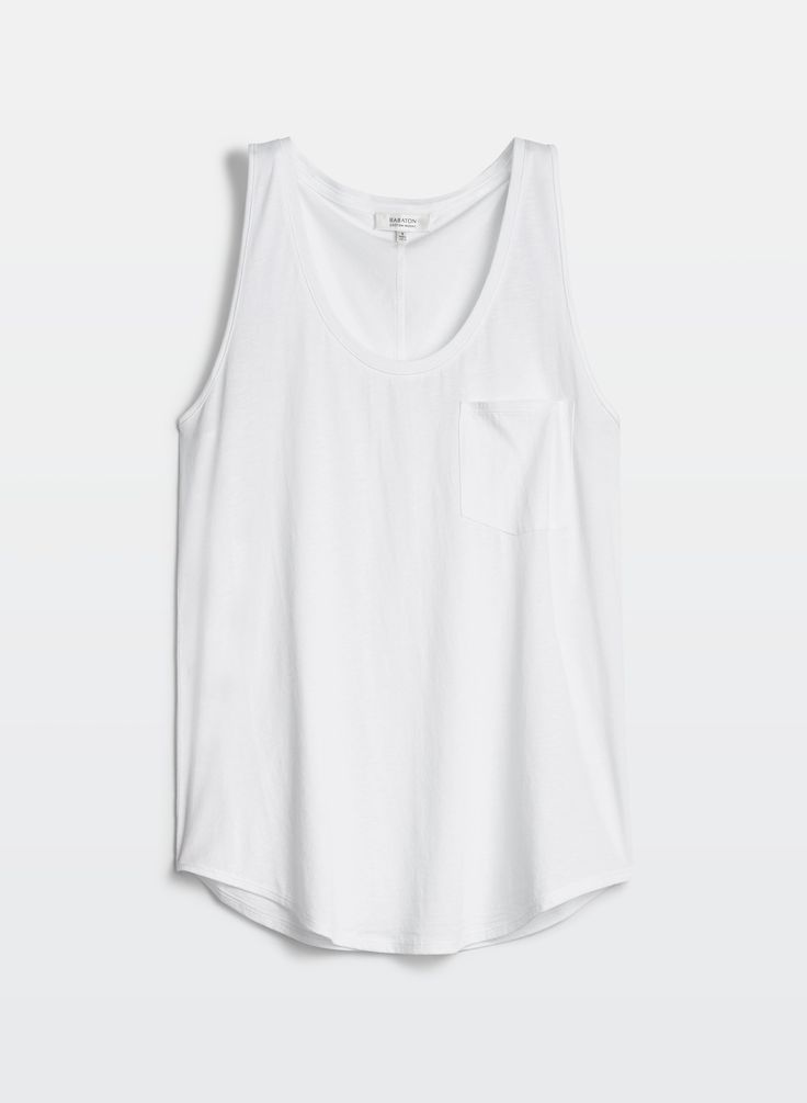 Plain white tank from Aritzia
