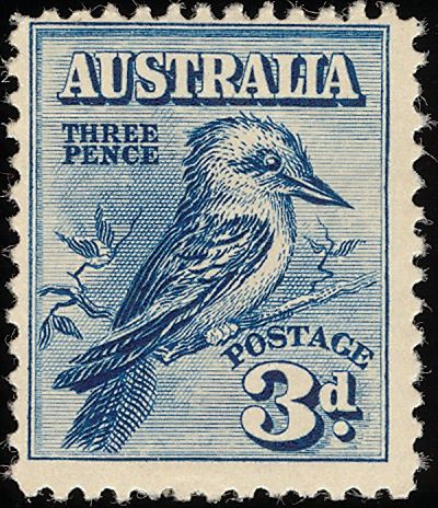 Australia bird three pence