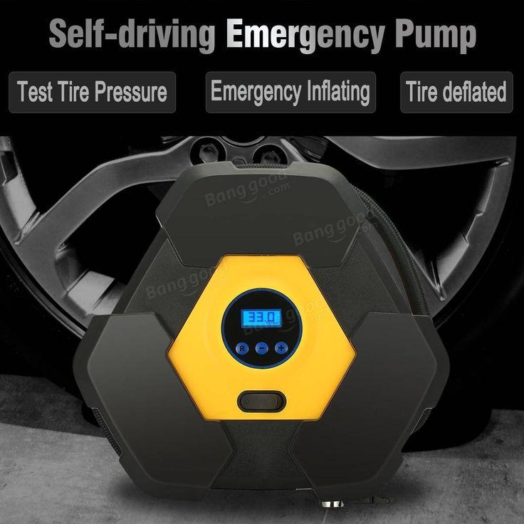 iMars™ 12V Portable Car Tire Digital Pump Air Compressor Tire Inflator 150PSI For Car Truck Bike