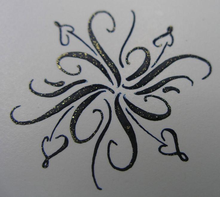 Art B Calligraphy Flourish By Linda Hirsh Art B W