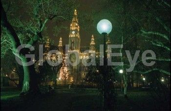 Vienna, Austria : the residence of the mayor at night.Stock Photo By Martino Wildt