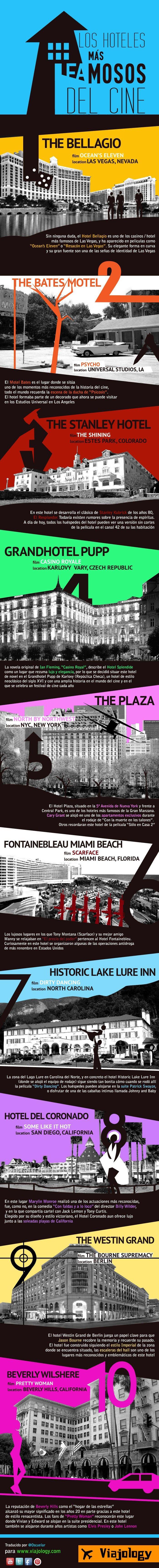 Los hoteles más famosos del cine #infografia #infographic #tourism