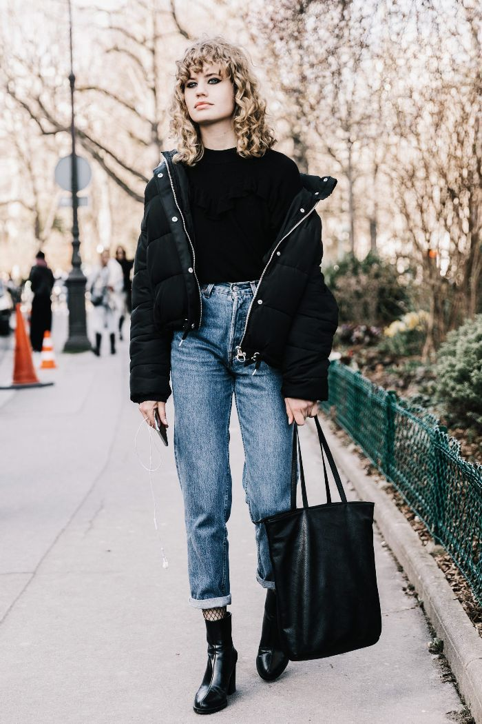 The Jeans Styling Trick That Will Save You This Winter Who What Wear Fashion Pfw Street Style Street Style