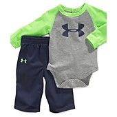 Under Armour Baby Set, Baby Boys 2-Piece Bodysuit and Tricot Pants (3-6 months) - $34.98