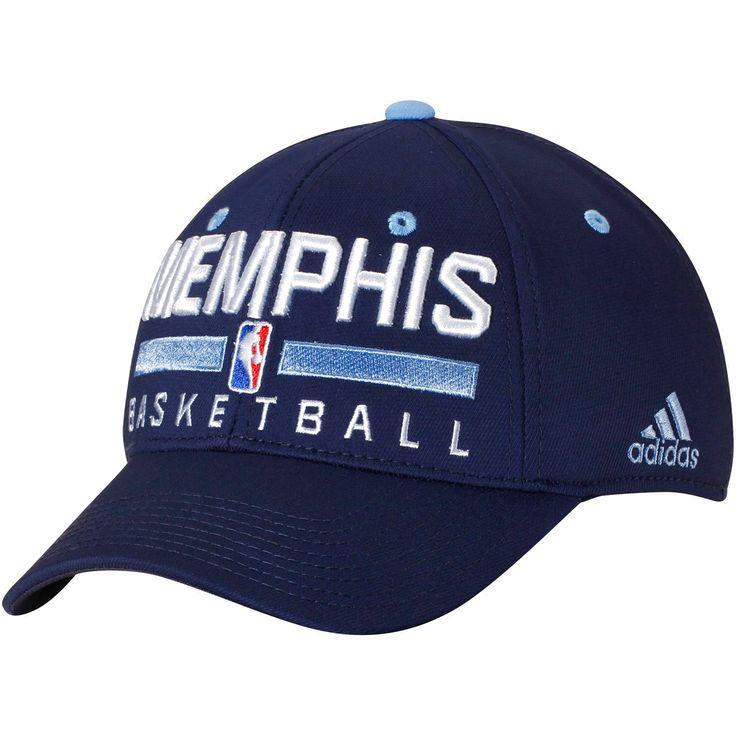 Memphis Grizzlies adidas Practice Flex Hat - Navy - $19.19