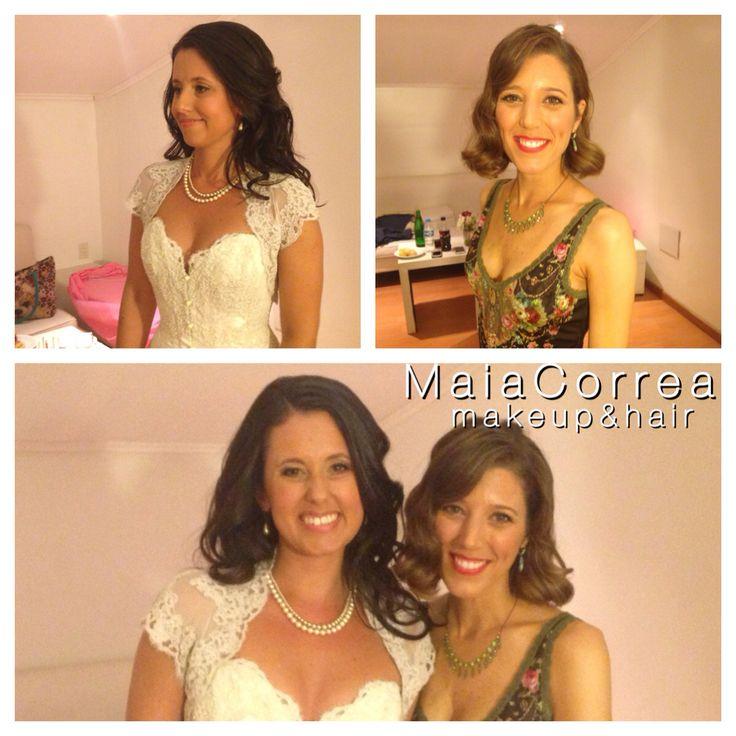 Roberta y Sabrina diosas, #bride #makeup #hair