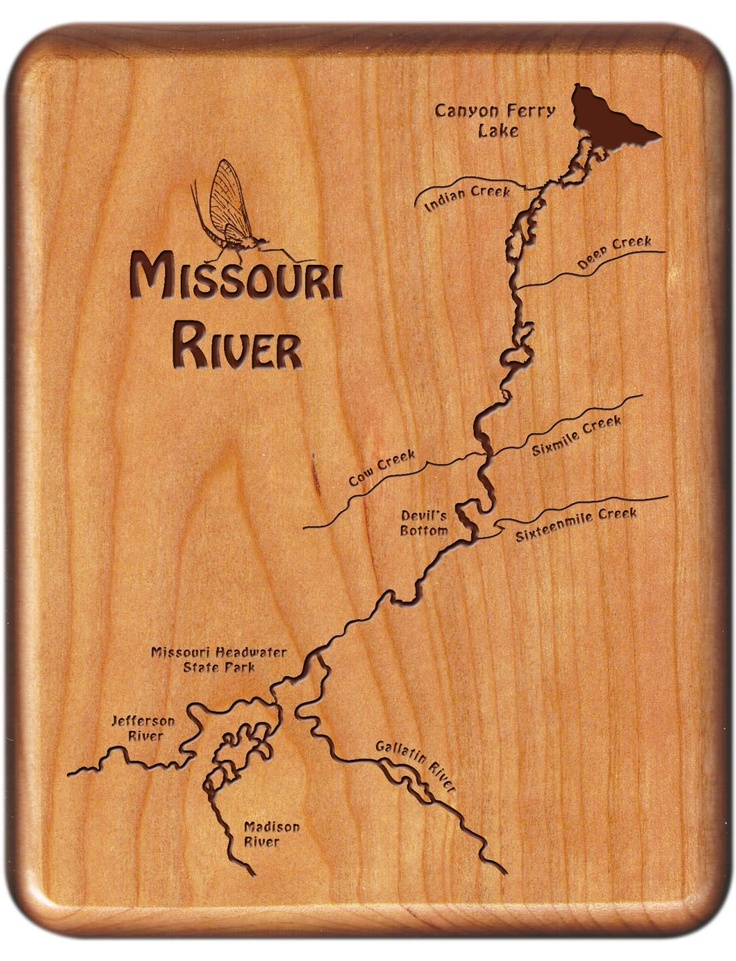 STONEFLY STUDIO'S MISSOURI RIVER HEADWATERS RIVER MAP FLY BOX - Fly Fishing Montana and Montana State Parks