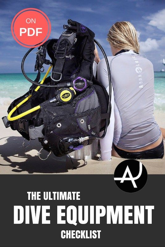 Check out all the gear you need to go scuba diving with this complete scuba diving equipment list. The essentials and the optional accessories. Also on PDF.