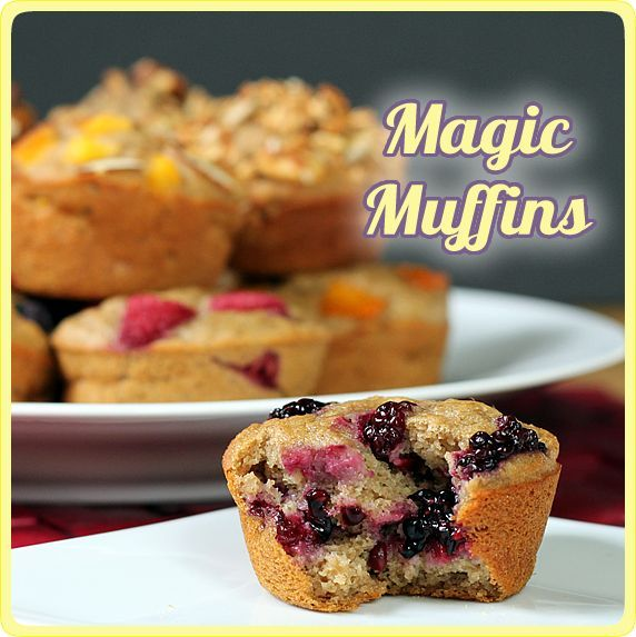 Make Ahead Magic Muffins because they are 124 calories, have no eggs, no extra fat, and are made with whole grains and lots of other info at the link. #food #healthy #muffins