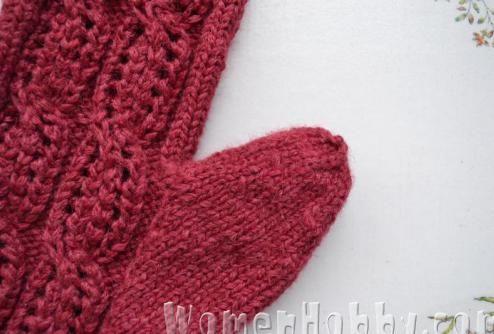 knitting mittens thumb DIY (Мастер-класс Вывязывание большого пальца варежки)