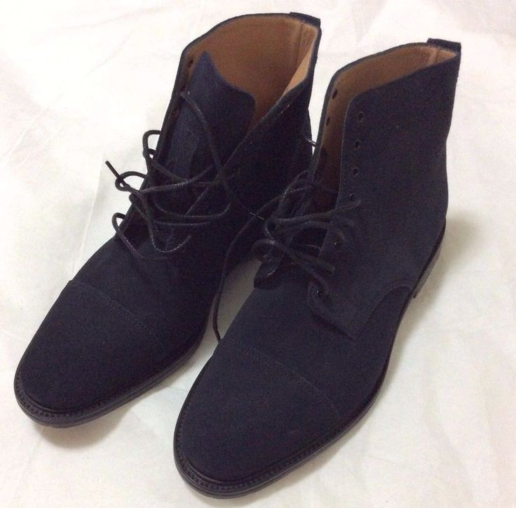 NIB J Crew Alfred Sargent Blue Suede Cap Toe Boots Mens Sz 11 Made in England  #AlfredSargent #AnkleBoots