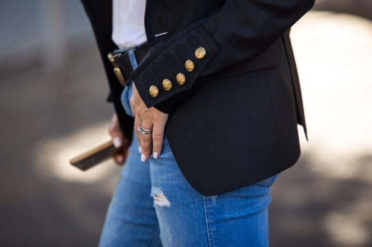dSquared2, летняя мода, лето 2017, модный блог, черный пиджак, летние сандалии, летние тренды, объем, объемные рукава, пышные рукава