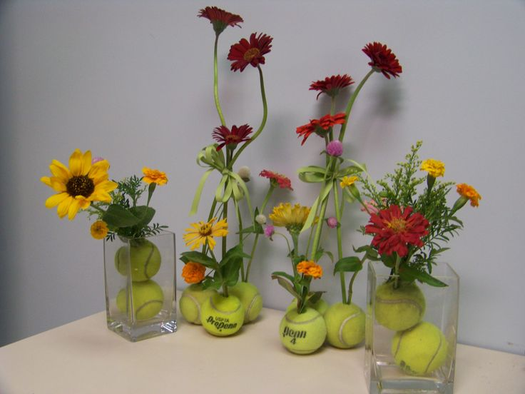 Tennis Vases..anyone Can Do Something Like This.