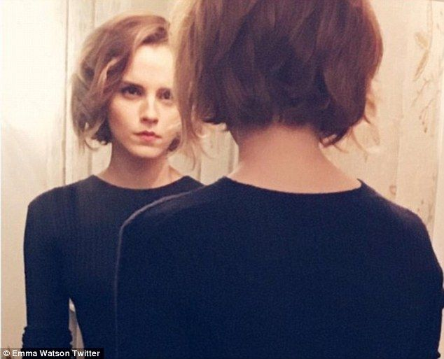 New 'do: Emma Watson revealed her new, shorter and more chic hairstyle on Tuesday night via Instagram