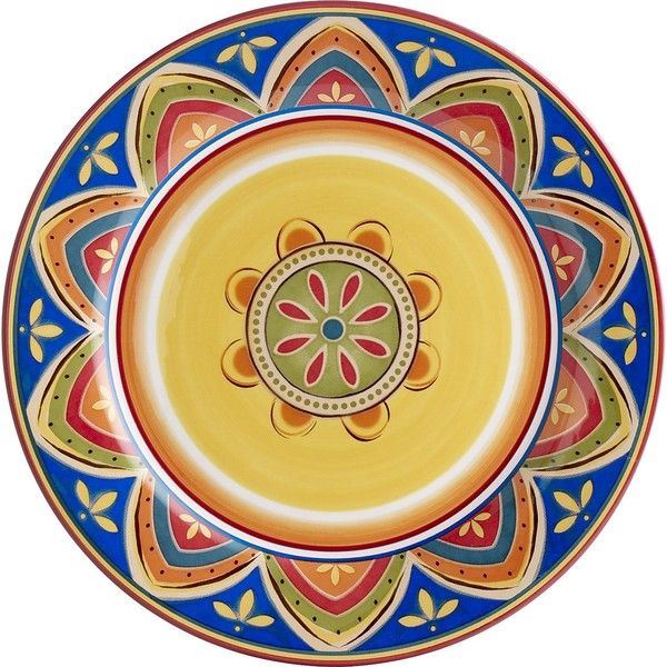 Pier 1 Imports Mexicali Dinner Plate (105 EGP) via Polyvore featuring home, kitchen & dining, dinnerware, dinner-ware, dinner dishes, handpainted dinnerware, pier 1 imports and dinner plates