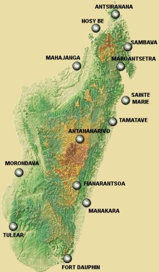 Map of Madagascar