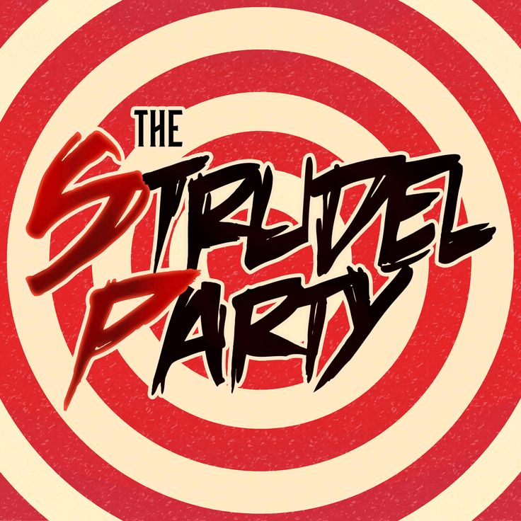 The Strudel Party - Psychedelic Logo