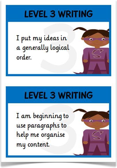 Writing Targets Levels 3 & 4 - Treetop Displays - EYFS, KS1, KS2 classroom display and primary teaching aid resource