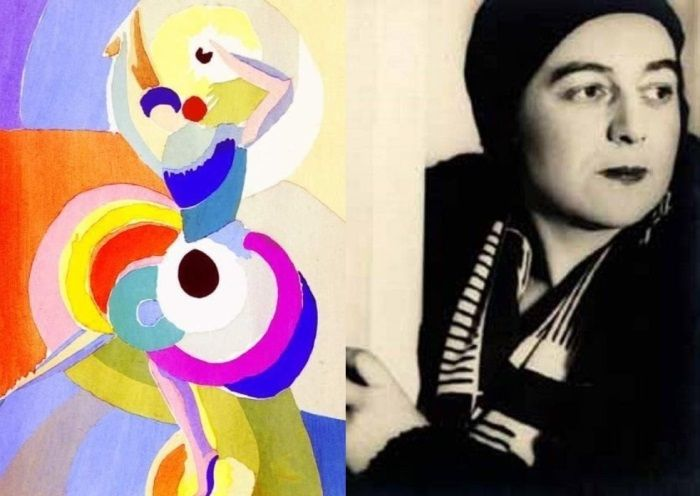 Художник, дизайнер, модельер, иллюстратор Соня Делоне и ее картина *Танцовщица фламенко*, 1916 | Фото: artchive.ru и liveinternet.ru