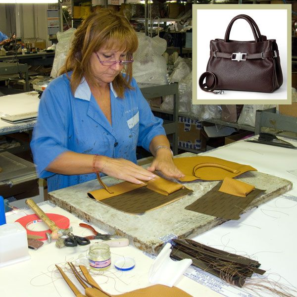 A little bit of a restyling. Renza is working on the lining and organizing pockets of our classic #Italianleatherhandbag Collection.  All of our handbags have cell phone holders that will comfortably hold an iPhone or Smartphone.  http://www.pierotucci.com/bags/handbags/