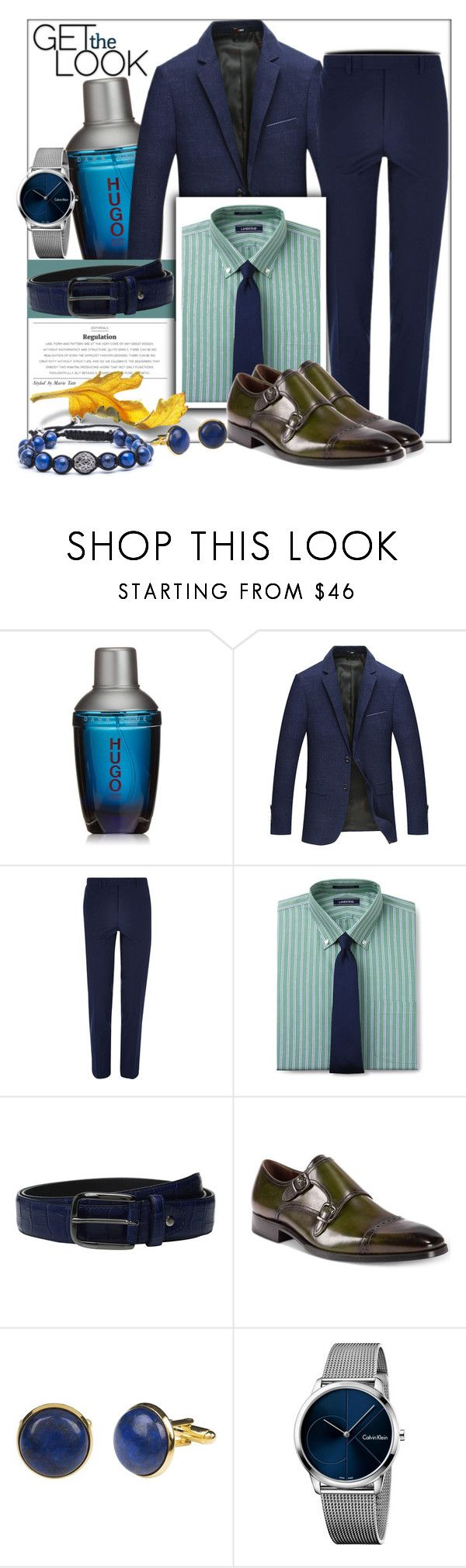 """""""Fall inspired"""" by fashionchronicles365 ❤ liked on Polyvore featuring HUGO, River Island, Lands' End, Bugatchi, Tallia Orange, Lazuli, Calvin Klein, Jared Lang, men's fashion and menswear"""
