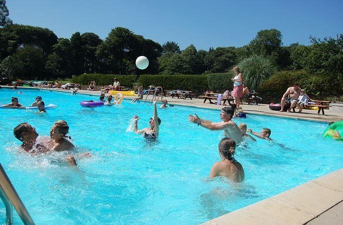 Trewan Hall Camping and Caravanning, St Columb, Newquay, Cornwall, England. Travel. Holiday. Swimming Pool. Beach. Sea.