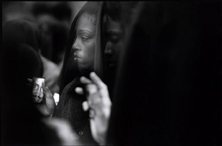 PAUL FUSCO USA. New York City. United Nations. 2000. Amadou Diallo, a 22-year-old street peddler from Guinea, died February 4 1999