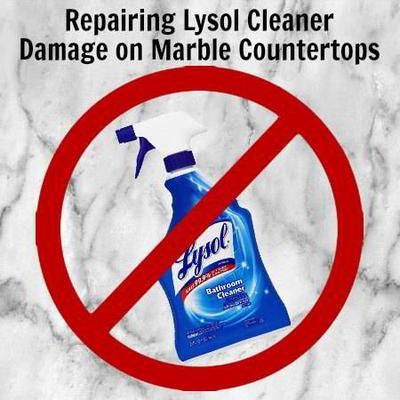 Best Marble Repair U0026 Cleaning Method To Fix Lysol Cleaner Damage On Marble  Countertops, Removing Dull Spots, Polishing And Restoring Shine.
