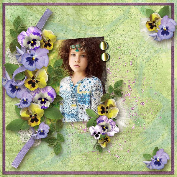 """Pansy Garden"" - Collection by Alexis Design Studio  http://www.thedigichick.com/shop/Pansy-Garden-Collection.html  save 62%  ADS_Springtime In April-FanGift  photo Maria Gert Photography use with permission"