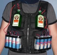 Jagerbomb In This Picture: Photo of a Jaegermeister/ Redbull vest
