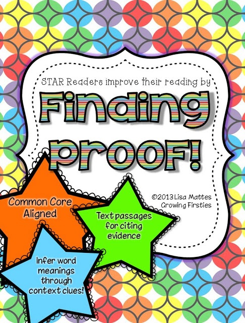 Finding Proof - teach students to find and cite evidence to answer questions and infer word meaning with context clues. Great test prep!