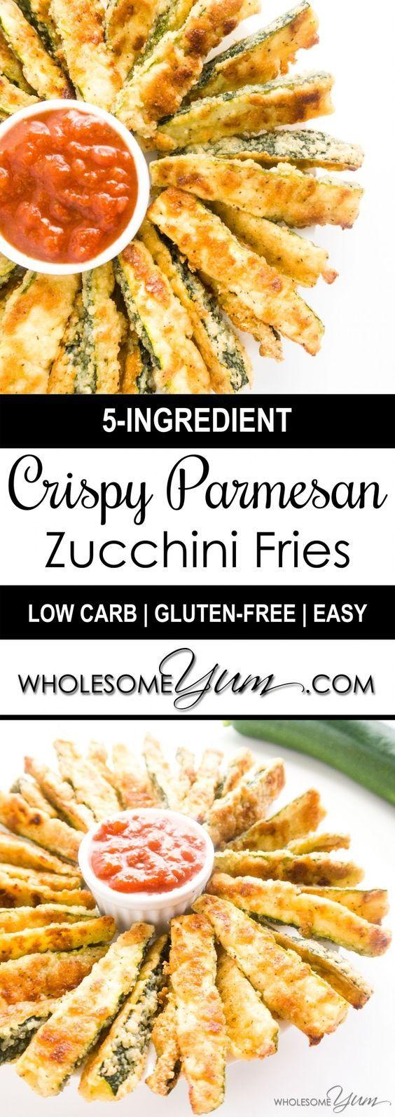 Crispy Parmesan Zucchini Fries (Low Carb, Gluten-free)