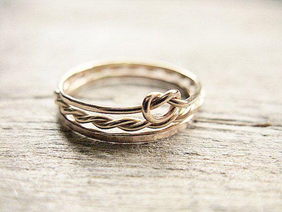 Stapeln Ringe 14k Gold füllen