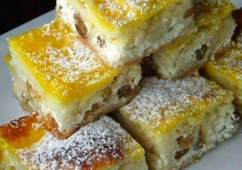 Receptek, és hasznos cikkek oldala: Lusta asszony túrós pitéje