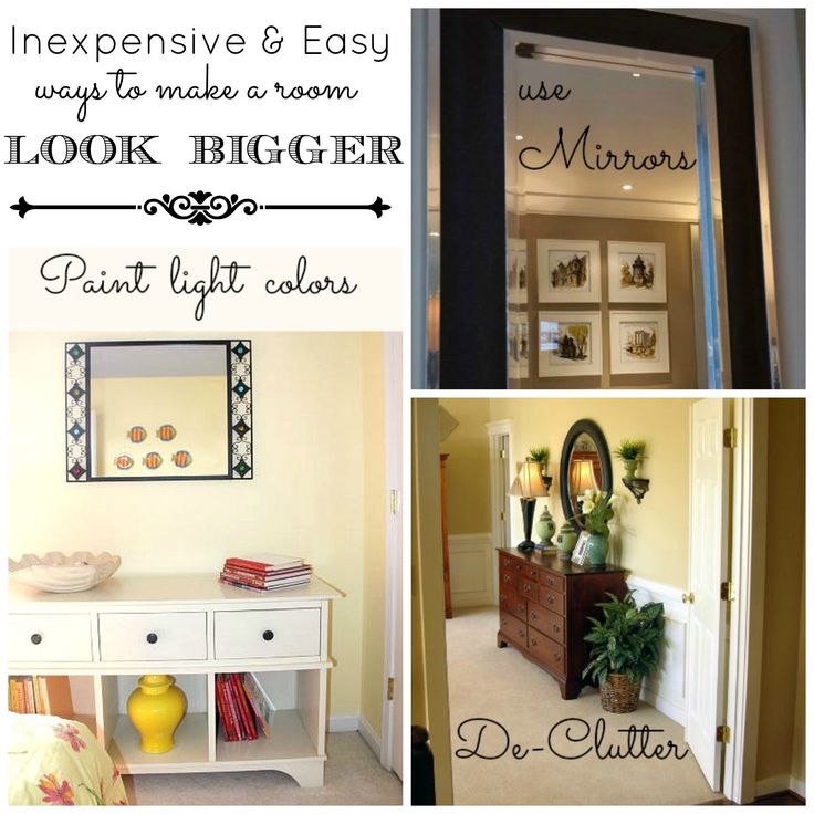 Best Inexpensive And Easy Ways To Make A Room Look Bigger Http 400 x 300