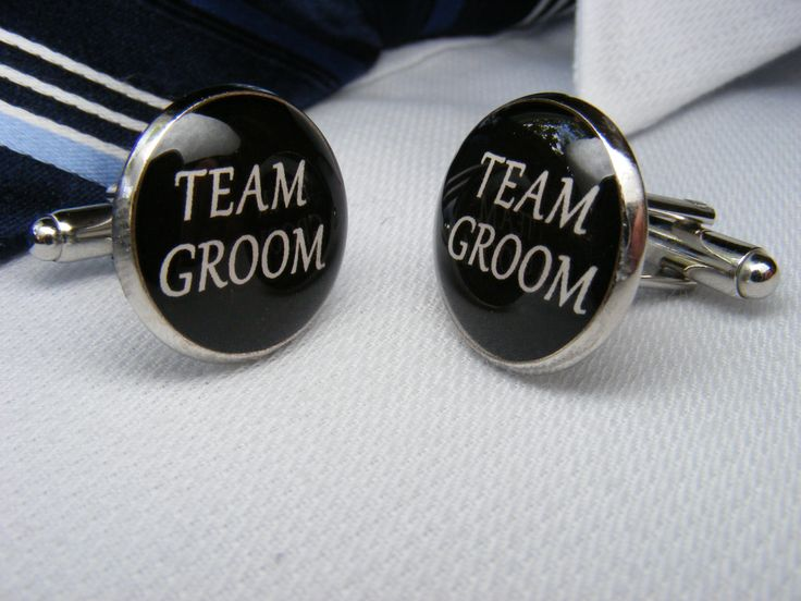 Team Groom - Cufflinks - Mens Accessories - Wedding Keepsake - Groomsmen Gift - Wedding Ideas - Bridal Party - Novelty Cufflinks - Weddings by UpscaleTrendz on Etsy https://www.etsy.com/listing/161441012/team-groom-cufflinks-mens-accessories