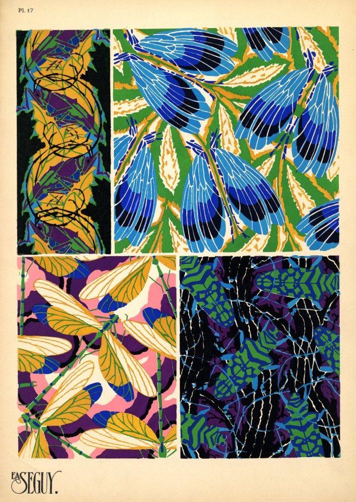 Eugène Séguy   Science and Textiles inspiration