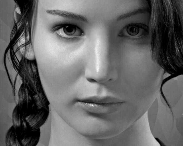 Katniss Everdeen aka Jenifer Lawrence