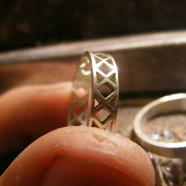 .  .  .  .  .  .  .  .  .  .  #silver #rings #handcut #handmade #bench #hands #process #lovemade #jewelry