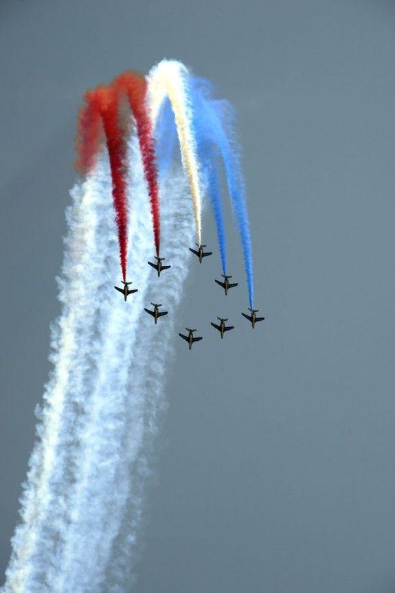 2013 29/6 rit 1 Porto-Vecchio  Voor Le Grand Départ stelen Franse straaljagers nog even de show