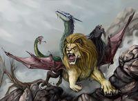 Figlia di Echidna e di Tifone, questo mostro aveva la testa di un leone, il ventre di una capra e la coda di un drago. La leggenda narra, che per diversi anni porto morte e distruzione nelle coste dell' odierna Turchia, sputando fuoco e fiamme distruggeva i campi coltivati.