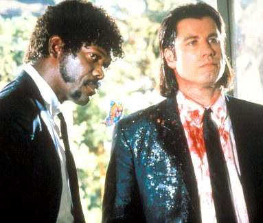 Recent Samuel Jackson Movie titles | Samuel Jackson and John Travolta in Pulp Fiction - accidental shooting