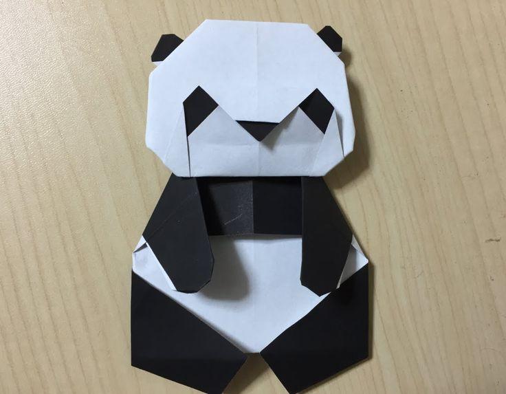origami panda 折り紙(おりがみ)パンダ(ぱんだ)作り方 折り方