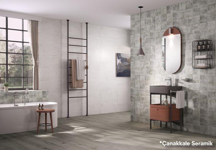 Sırlı porselen ve yer karolarıyla Vera serisi minimal yapılı Icon Mini ile birleşerek fonksiyonel kullanım yaratıyor.   Banyo Mobilyaları: Kale Banyo  #Kale #banyo #tasarım #bathroom #bathroomidea #dekorasyon #dekorasyonönerileri #decorationidea #modern #modernbathroom #moderndecor #modernevler