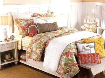 tropical beach christmas decor | ... Happy Beach Quilt Set - tropical - bedding - by Tropicality Decor