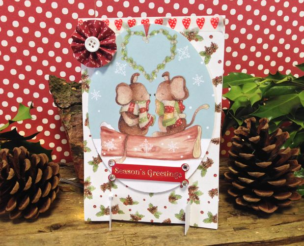 'New' Trimcraft Free Standing Card Layout & Tutorial with Template