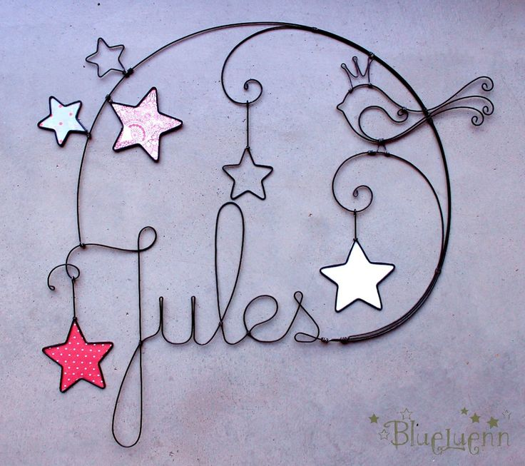 Decoración con nombre del bebé   -   Ornament with baby's name